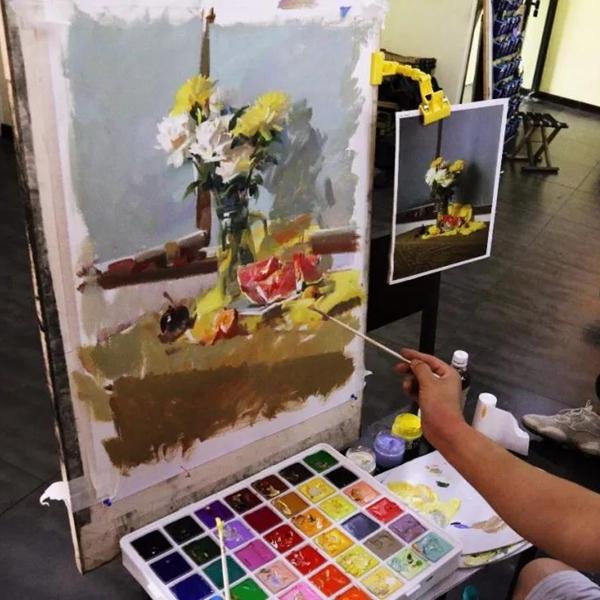 天津美术培训丨全国色彩名师刘晓明为零晨学子带来精彩课程